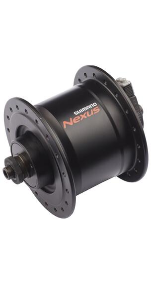 Shimano Nexus DH-C3000-3N Piasta 3 Watt do Hamulców szczękowych/Zacisków do piast czarny